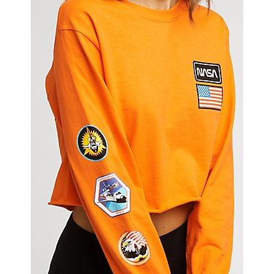 NASA Graphic Crop Tee