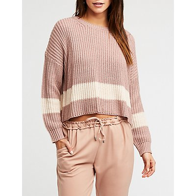 Single Stripe Knit Pullover