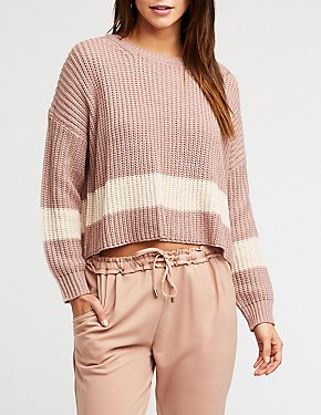 Single Stripe Knit Pullover