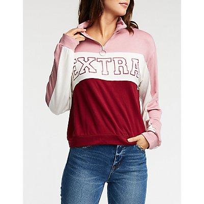 Extra Color Block Sweatshirt