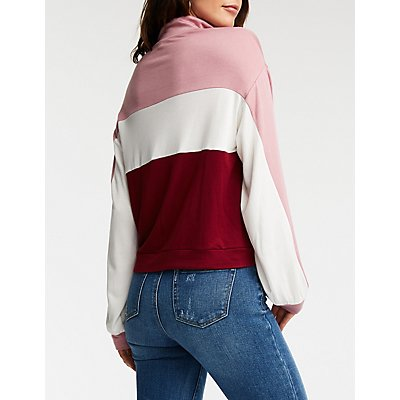 Extra Color Block Sweatshirt