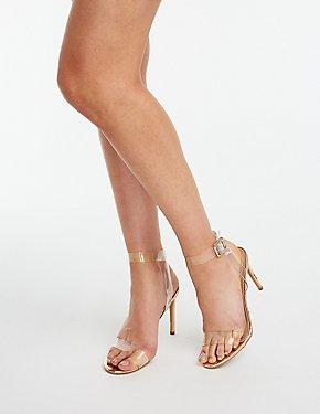 PVC Ankle Strap Sandals