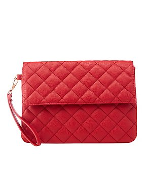 Quilted Flap Clutch
