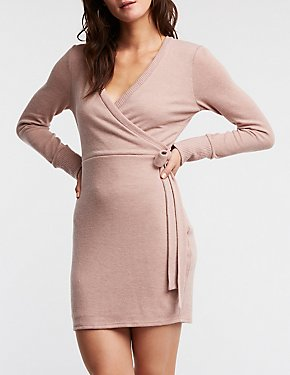 Front Tie Wrap Dress
