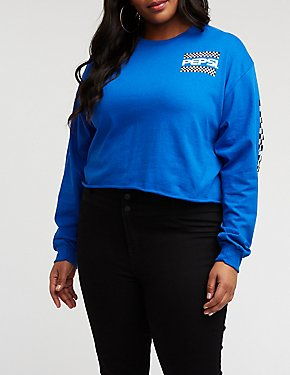 Plus Size Pepsi Crop Top