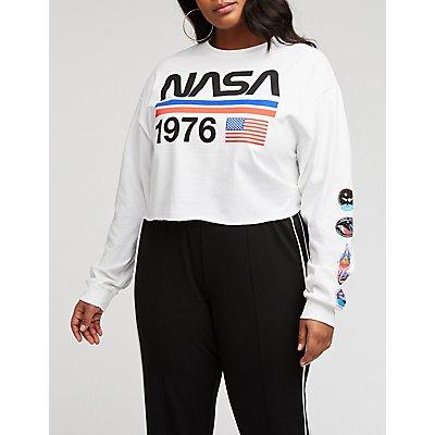 Plus Size NASA 1976 Crop Top