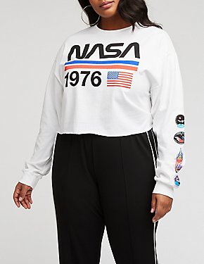 Plus Size NASA 1976 Crop Top