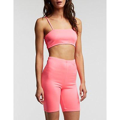 Neon Bike Shorts