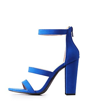 Three Strap Faux Suede Sandals