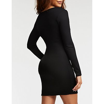 Ring Snap Bodycon Dress