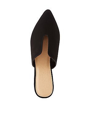 Pointed Toe Mule Flats