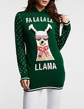Fa La La La Llama Hooded Sweater