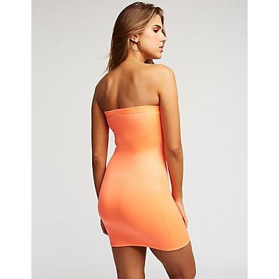 Neon Mini Bodycon Dress