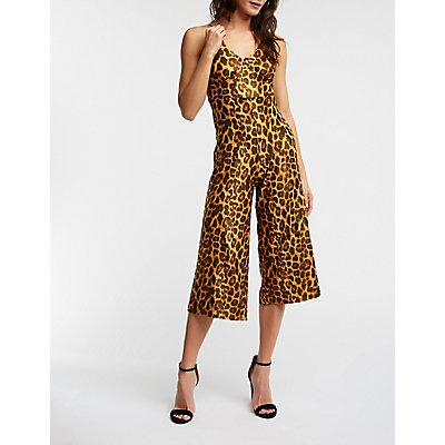Metallic Leopard Jumpsuit