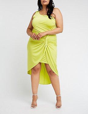 Plus Size One Shoulder Bodycon Dress