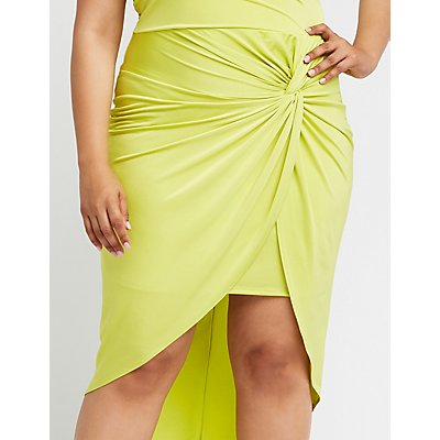 Plus Size One Shoulder Bodycon Dress