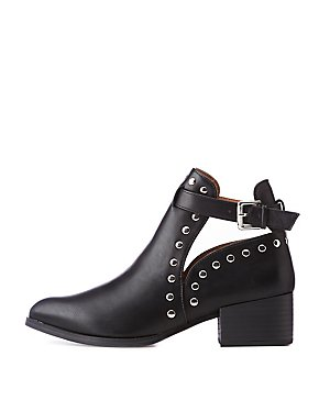 Qupid Studded Ankle Booties