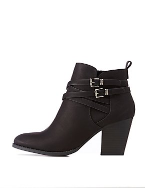 Double Buckle Ankle Booties