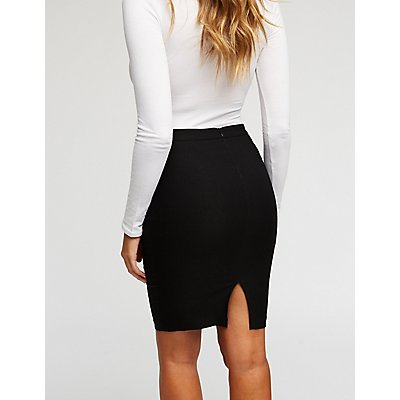 Longline Bodycon Skirt