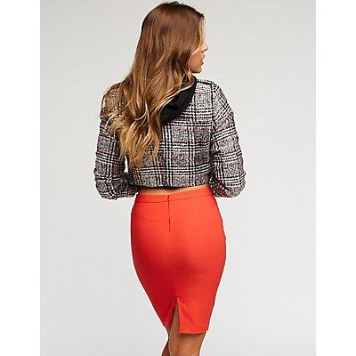 Longline Bodycon Skirt