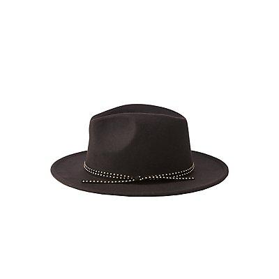 Studded Panama Hat