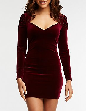 Velvet Sweetheart Bodycon Dress