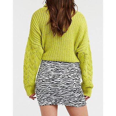 Zebra Print Bodycon Mini Skirt