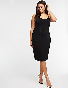 Plus Size Scoop Neck Midi Dress