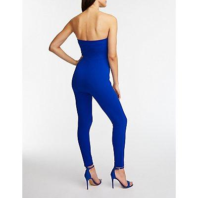Strapless Skinny Leg Jumpsuit