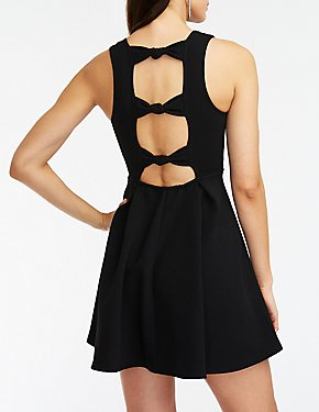 Knotted Back Skater Dress