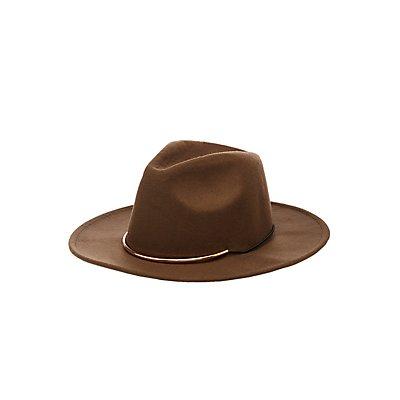 Metal Felt Panama Hat