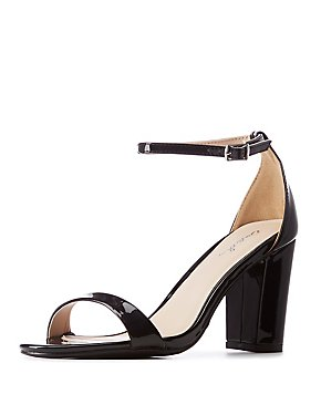Patent Two Strap Dress Sandals