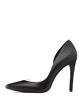 Qupid Clear Detail D'Orsay Pumps