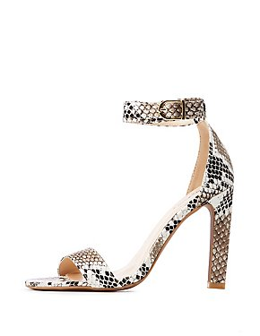 separation shoes 29110 56dd1 Snakeskin Ankle Strap Sandals