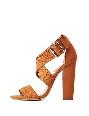 Faux Suede Braided Dress Sandals