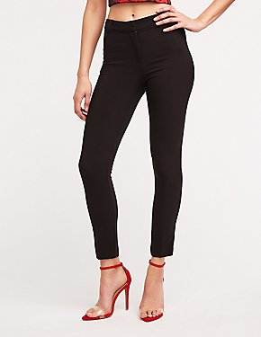 Slim Leg Crop Trousers