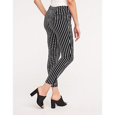 Striped Slim Leg Trousers