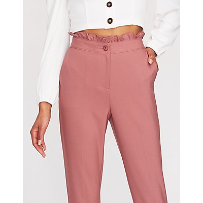 Ruffle Trim Trousers
