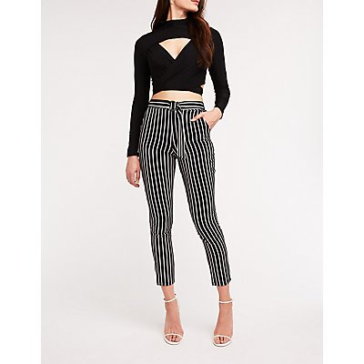 Striped O-Ring Trousers