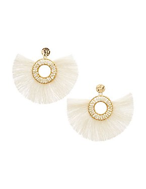 Fringe Circle Drop Earrings