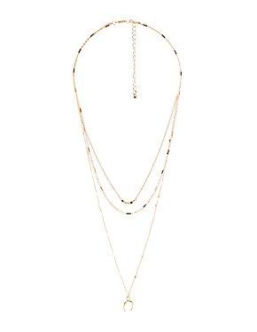 Layered Horseshoe Necklace