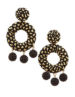 Woven Circle Drop Earrings