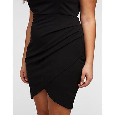 Plus Size Wired Wrap Bodycon Dress
