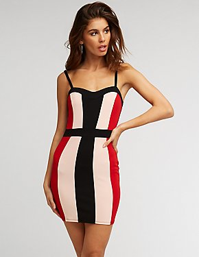 Colorblock Sweetheart Bodycon Dress