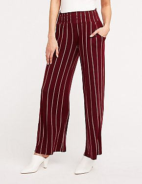 Striped Smocked Palazzo Pants