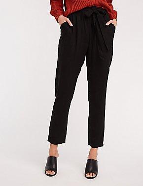 Self Tie Wide Leg Trousers