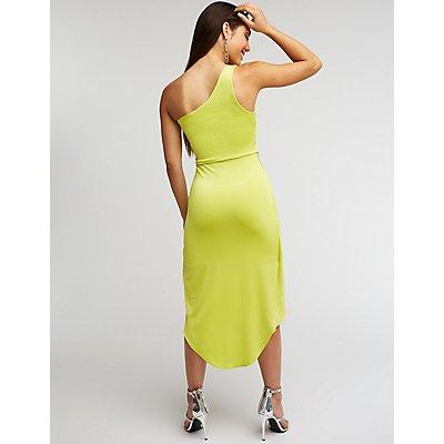 One Shoulder Wrap Bodycon Dress