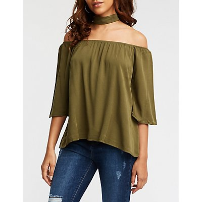 Choker Neck Blouse