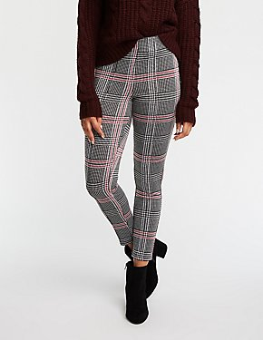 Glen Plaid Pintuck Leggings