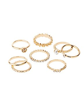 Metal Stacking Rings - 8 Pack